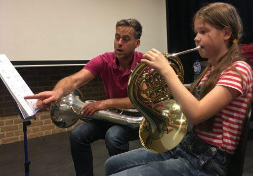Muziekles in Bemmel